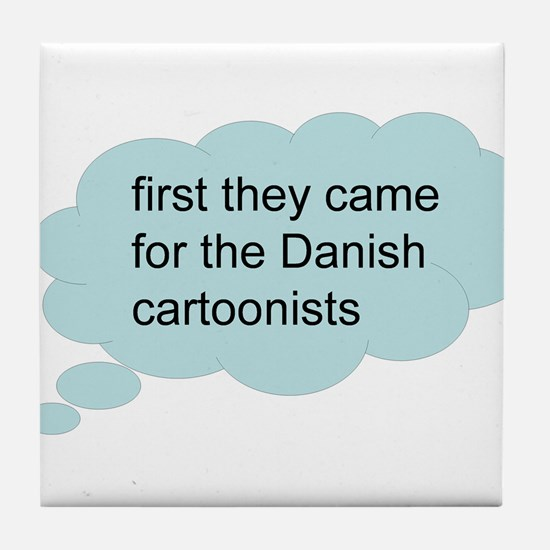 first they came - bubble Tile Coaster
