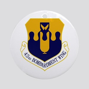 43rd Bomb Wing Ornament (Round)