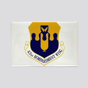 43rd Bomb Wing Rectangle Magnet