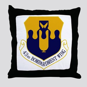 43rd Bomb Wing Throw Pillow