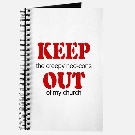 Keep out... church Journal