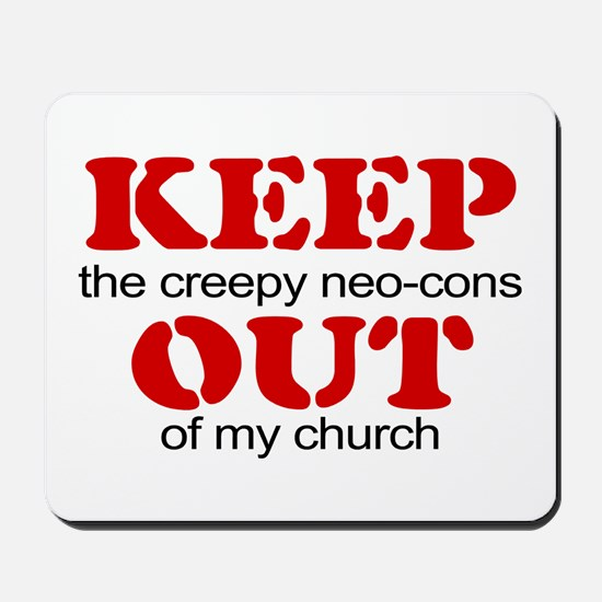 Keep out... church Mousepad