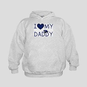 I Love My Police Daddy Kids Hoodie