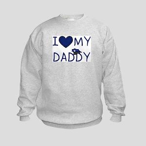 I Love My Police Daddy Kids Sweatshirt