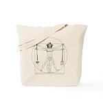 Garden Vitruvian Man Da Vinci Tote Bag