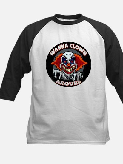 Evil Clown Kids Baseball Jersey