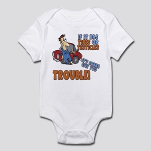 Man Trouble Infant Bodysuit