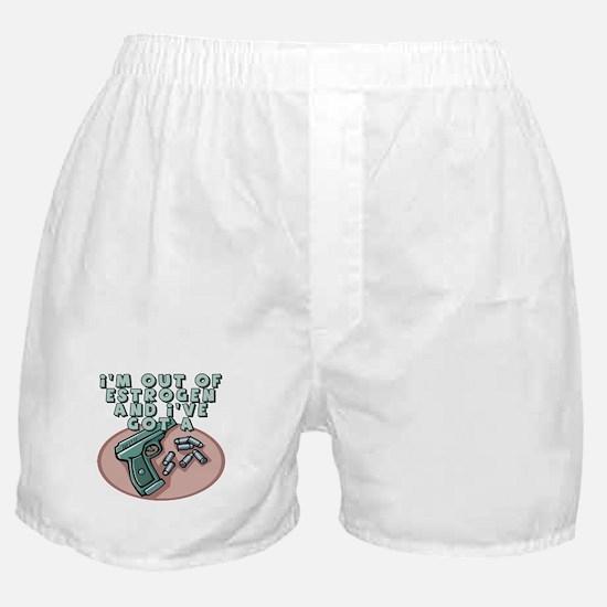 Out Of Estrogen Boxer Shorts