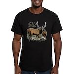 Elk Hunter Men's Fitted T-Shirt (dark)