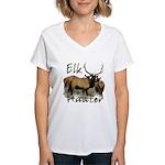 Elk Hunter Women's V-Neck T-Shirt