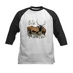 Elk Hunter Kids Baseball Jersey