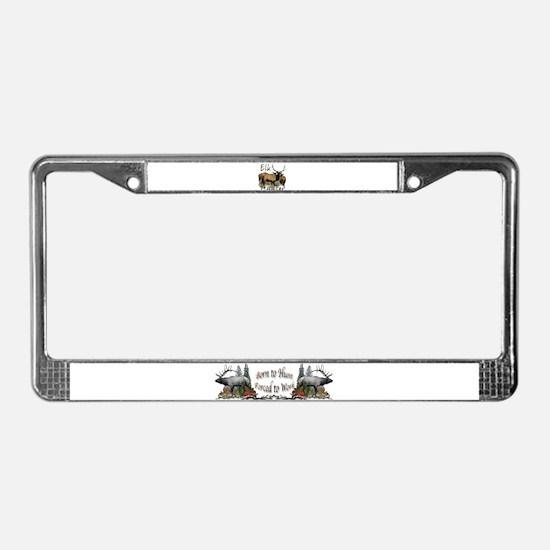 Elk Hunter License Plate Frame