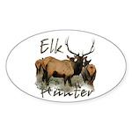 Elk Hunter Sticker (Oval 50 pk)