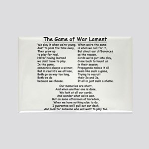 The Game of War Lament Rectangle Magnet