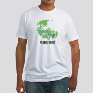 Never Forget Pangaea Fitted T-Shirt