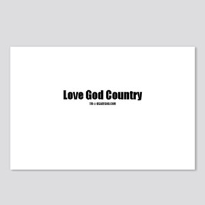 Love God Country(TM) Postcards (Package of 8)