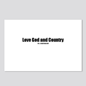 Love God and Country(TM) Postcards (Package of 8)