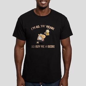 60th Birthday Beer Men's Fitted T-Shirt (dark)