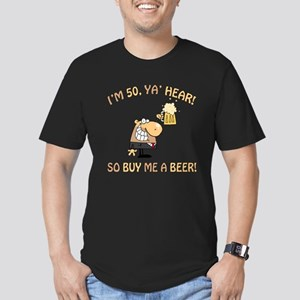 50th Birthday Beer Men's Fitted T-Shirt (dark)