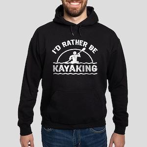 I'd Rather Be Kayaking Hoodie (dark)