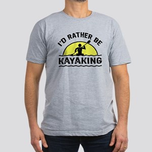 I'd Rather Be Kayaking Men's Fitted T-Shirt (dark)