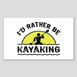 I'd Rather Be Kayaking Sticker (Rectangle)