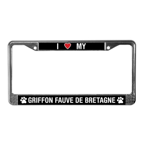 Love My Griffon Fauve de Bretagne License Plate