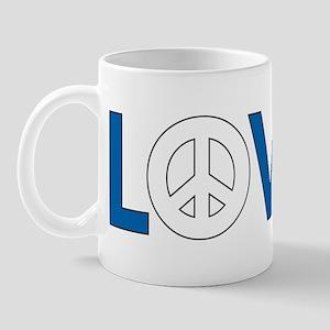 Love Peace Greece Mug
