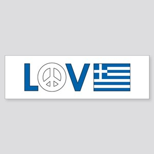 Love Peace Greece Sticker (Bumper)