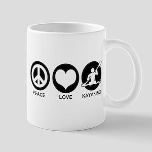 Peace Love Kayaking Mug
