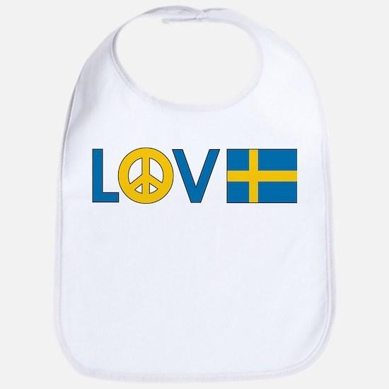 Love Peace Sweden Bib