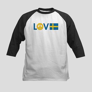 Love Peace Sweden Kids Baseball Jersey