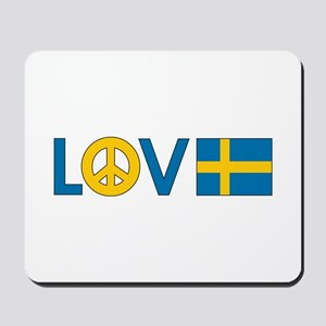 Love Peace Sweden Mousepad