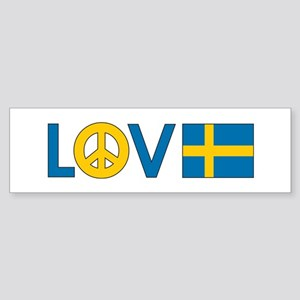 Love Peace Sweden Sticker (Bumper)