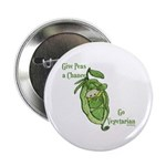 """Give Peas a Chance 2.25"""" Button (10 pack)"""