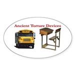 Ancient Torture Devices-1 Sticker (Oval 10 pk)