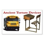 Ancient Torture Devices-1 Sticker (Rectangle 50 pk