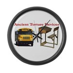 Ancient Torture Devices-1 Large Wall Clock