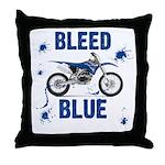 Bleed Blue Throw Pillow