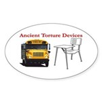 Ancient Torture Devices-2 Sticker (Oval 50 pk)