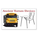 Ancient Torture Devices-2 Sticker (Rectangle 50 pk