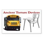 Ancient Torture Devices-2 Sticker (Rectangle)