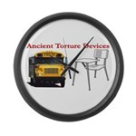 Ancient Torture Devices-2 Large Wall Clock