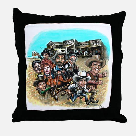 Official GUNSMOKE 55th Anniversary Throw Pillow