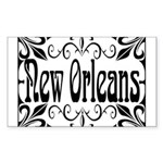 New Orleans Wrought Iron Design Sticker (Rectangle