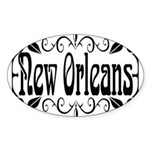 New Orleans Wrought Iron Design Sticker (Oval)