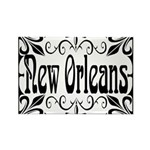 New Orleans Wrought Iron Design Rectangle Magnet (