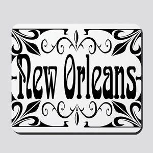 New Orleans Wrought Iron Design Mousepad