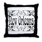 New Orleans Wrought Iron Design Throw Pillow