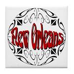 New Orleans Wrought Iron Design Tile Coaster